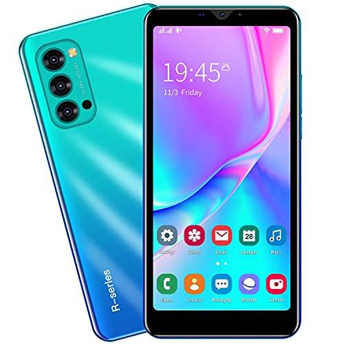 3G Cellulari e Smartphone, 5.5'' IPS Display, Android OS, 4GB ROM 32GB Espandibili, Batteria 2800mAh, Dual SIM Doppia Fotocamera Telefono Cellulare in Offerta GPS WIFI Bluetooth (Rino4-Blue)