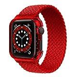 Bracelet tressé Solo Loop Compatible pour Apple Watch Band 44mm 40mm Bling Case et Ceinture...