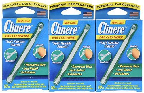 Clinere® Ear Cleaners, 10 Count, (Pack of 3) Earwax Remover Tool Safely and Gently Cleaning Ear...