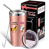 1971 50th Birthday Gifts for Women Unicorn Mug Tumbler, 50 Year Old Birthday Decorations Present for Sisters Friends Cowokers Mom Dad, 20 OZ Stainless Steel Travel Mug with Lid Brush