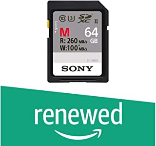 Sony Memory Card 128GB, UHS-II SD, CL10, U3, Max R260MB/s, W100MB/s (SF-M128/T) (Renewed)