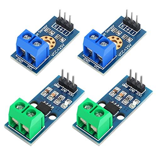 ACS712 30A Stromsensor Range Modul und DC0-25V Spannungssensor 4 Stück 3 Pins Current Sensor Hall-Effekt Stromsensormodul Voltage Terminal Sensor für Arduino