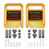 BI-DTOOL Featherboards, Adjustable Woodworking Safety Device Feather-Loc for Table Saws Band Saws Router Tables Fences Woodworking Tools, 6.3 Inch Extended Table Saw Featherboard Pack of 2
