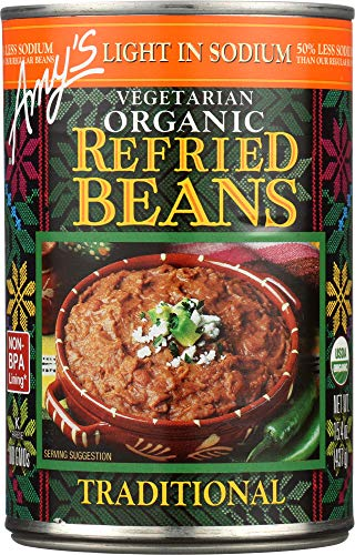 (NOT A CASE) Organic Refried Beans Traditional Light in Sodium