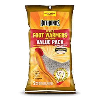 HotHands Insole Foot Warmers With Adhesive Value Pack  5-Pairs