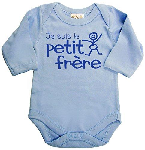 Dirty Fingers Je suis Le Petit frère Body bébé Manche Longue 0-3 Mois Bleu