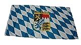 Flagge Bayern mit Wappen Fahne 150x90cm
