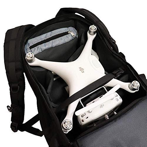 aiino – Universeller Drohnen-Rucksack, ideal für den Transport von Drohnen & Zubehör, ultraleicht, geräumig, kompatibel mit DJI Phantom, Drohnen- Zubehör, Transportschutz für Drohnen, Tasche – Schwarz