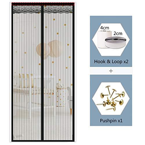 Uu-focus Protección Contra Insectos Mosquitera Magnética Para Puertas,imán Cierra Al Instante Malla Cortina,con Imán Y Marco Completo Autoadhesiva Gancho 85x200cm(33.5x78.7