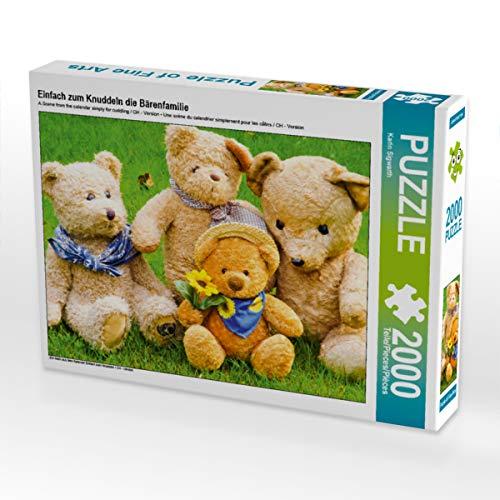 CALVENDO- Puzzle Fotografico, Motivo: Famiglia di orsi, 2000 Pezzi, Colore Bianco, Teile, 4059478937154