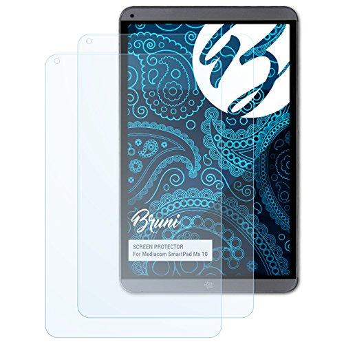 Bruni Pellicola Protettiva per Mediacom SmartPad MX 10 Pellicola Proteggi, Cristallino Proteggi Schermo (2X)