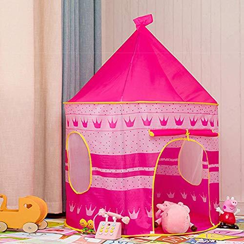 Ritapreaty Tienda de Juegos para niños, portátil Pop Up Tienda de Juegos para niños, Plegable Princess Prince Castle Tienda de Juegos para Uso en Interiores y Exteriores