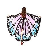 Kfnire Mariposa Alas Chal para Mujer Niña y Niños, Duendecillo para Mujer Chicas Capa de Muchacha Accesorio para Disfraz Playa Fiesta (A#06)