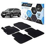 Clim Art Alfombrillas Coche para/ Compatible con Honda CR-V 17-21 Nicht fit Hybrid Model 4 pcs Set , 1. & 2. Fila, Alfombrilla Coche, Color Negro