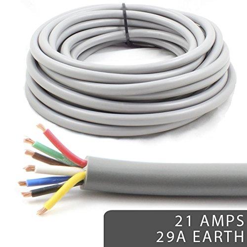30 m Reel 25 Amp 2 Core Flat Twin automarine 12 V 24 V paroi mince Câble Voiture fil