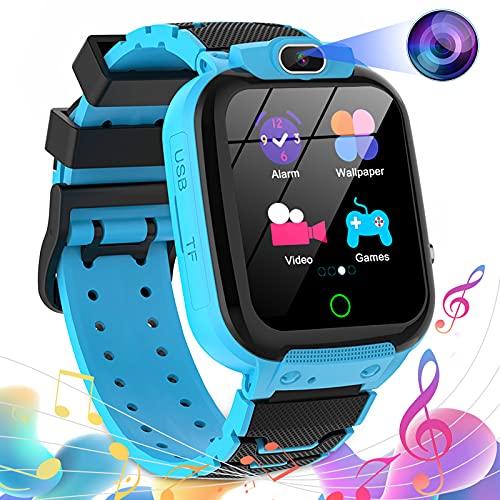 Montre Connectée Enfant, Montre de 16 Jeux avec Appareil Photo 100MP Video Musique MP3 Montre Intelligente Enfants Smartwatch Fille Garçon(Bleu)