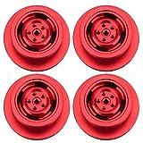 SALUTUYA Llantas de Rueda RC Aleación de Aluminio Durable Aspecto Hermoso Llantas de Rueda Calidad confiable con excelente Rendimiento para MN90 91 99 99S Crawler Car(Red)