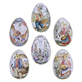 NUOBESTY 6 Unidades de Cajas de Hojalata de Huevos de Pascua Cajas de Embalaje...
