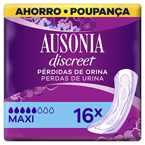 Ausonia Discreet Plus Long Compresas para Pérdidas de Orina, para Vejigas Hiperactivas X16