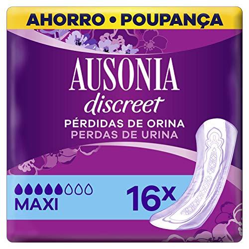 Ausonia Discreet Plus Long Compresas para Pérdidas de Orina, para Vejigas...