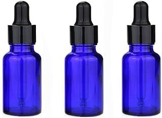 Trueland スポイト遮光瓶 アロマオイル 精油 小分け用 スポイト キャップ 遮光瓶 保存 詰替え ガラス製 オイル用 20ml 3本セット (青)