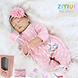 ZIYIUI Muñecas Reborn 22 Pulgadas 55cm muñecas bebé Reborn Suave Vinilo de Silicona Realistas Bebe R...