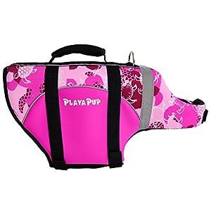 PlayaPup Dog Life Jacket, Medium, Peoni (Turtle)