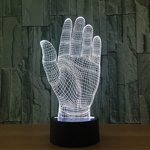 Touch Switch Palm Hand 3D led Night Light for Baby Bedroom Night Light Acrylic Lamp Night Light Beside Table Lamp Lighting USB lamp