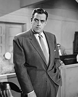 Perry Mason Raymond Burr classic pose in court room 8x10 Promotional Photograph