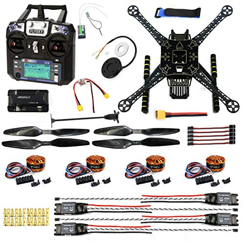 CS PRIORITY DIY GPS Drone Racer APM 2.8 Flight Controller S600 4-Axis Unassembled Quadcopter Kit with Landing Gear FS-I6 Transmitter