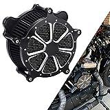 Bid4ze Motorcycle Grid Black Core Black Air Cleaner Filter For Harley Dyna Super Glide Street Bob Low Rider Fat Bob Wide Glide 1993-2016