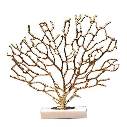 Modern Interieur Sculptuur Accenten Alle Koperen Koraalboom Marmeren Decoratie Licht Luxe Tv-Kast Wijnkast Ambachten Decoratie