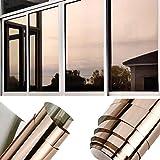 TTMOW Vinilo Pet Película Adhesiva Lámina de Espejo para Ventanas Cristal Unidireccional Protector...