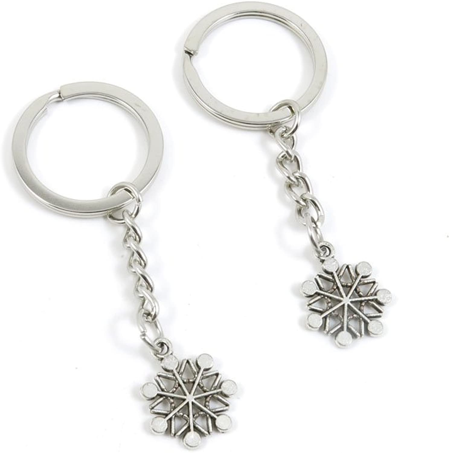 240 Pieces Fashion Jewelry Keyring Keychain Door Car Key Tag Ring Chain Supplier Supply Wholesale Bulk Lots S4SF8 Snowflake Snow Flake
