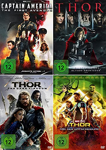 Marvel Studios Bundle - Captain America: First Avengers + Thor + Dark Kingdom + Tag der Entscheidung [4-DVD]