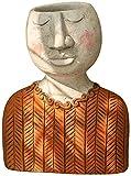 Maracos. Statua creativa indoor testa esterna pentola pentola resina succulente piantatore vaso urn casa giardino decorazione scultura (Colore : White-d)
