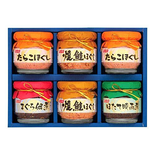 ニッスイ ニッスイ詰合せ BA-30B (焼鮭ほぐし 55g(2個)・たらこほぐし 50g (2個)・まぐろ佃煮 50g(1個)・ほたて時雨煮 50g(1個)) 日本水産