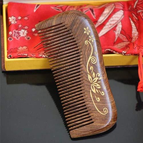 Sandelhout haarkam Verschillende stijlen houden dichte tandkam Antistatische haarborstel voor hoofdhaar