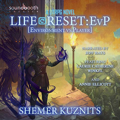 Life Reset: EvP (Environment vs. Player)     New Era Online Series, Book 2              By:                                                                                                                                 Shemer Kuznits                               Narrated by:                                                                                                                                 Jeff Hays,                                                                                        Laurie Catherine Winkel,                                                                                        Annie Ellicott                      Length: 21 hrs and 53 mins     112 ratings     Overall 4.9