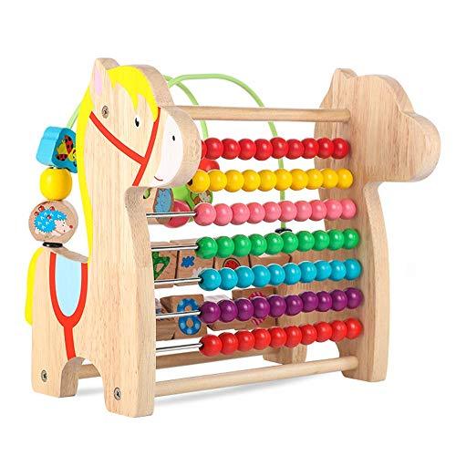 Aktivitätswürfel Baby Holz Aktivität Würfel-Spielzeug, Discover Farm Animals Activity Center for Kinder ab 3 Jahr for Early Learning und Entwicklung für Kinder Kleinkinder Geschenke