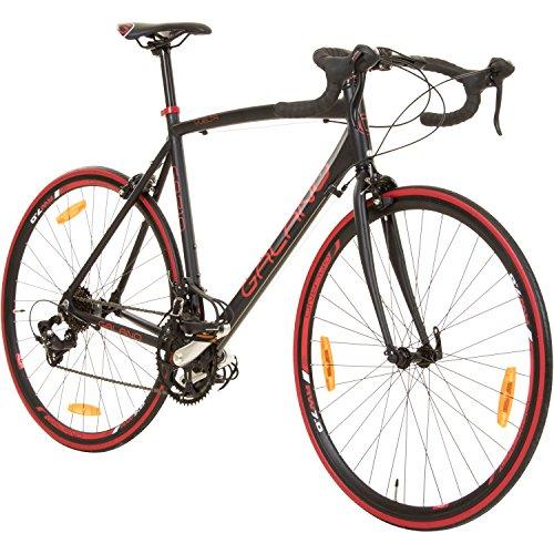 Galano 700C 28 Zoll Rennrad Vuelta Sti 4 Rahmengrößen 2 Farben, Rahmengrösse:59 cm, Farbe:schwarz/rot