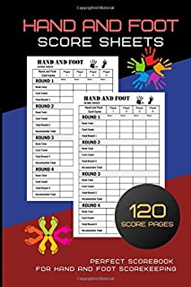 Hand And Foot Score Sheets: Hand And Foot Score Pad | Canasta Style Score Sheets | Score Keeper Notebook | Perfect Scorebook for Hand and Foot ... for ScoreKeeping| Size : 8.5