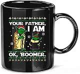 Your Father I Am Ok Boomer Christmas Baby Yoda Ugly Christmas Ceramic Gift Tazas Divertidas Tazas 11oz