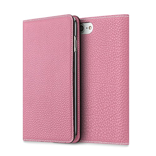 BONAVENTURA Leather Wallet Diary Flip Case [Compatible with iPhone 6s/6   Pink]