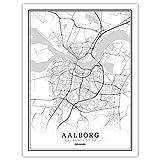 Lonfenner Leinwand Bild,Aalborg Dänemark Abstrakte Farbe