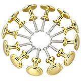 Bocotoer Tiradores redondos para cajones de cocina, 25 mm, tono dorado, 12 unidades