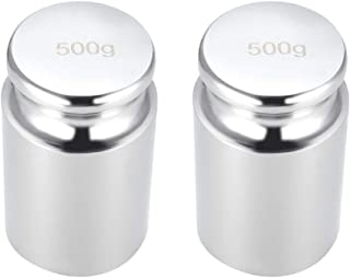 uxcell Gram Calibration Weight 500g M2 Precision Chrome Plated Steel for Digital Balance Scales 2pcs
