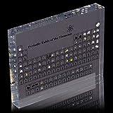 Tabla periódica de acrílico con elementos reales, 15 x 11 x 2 cm, tabla periódica con elementos, pantalla de elementos químicos, tabla periódica para enseñar el día escolar o regalo de cumpleaños