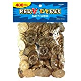 Amscan St. Patrick's Day Plastic Gold Coins Mega Value Pack, 400 Ct. | Party Favor - 392612, 10 1/4' x 7 1/4'