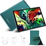 Tablet touch 4G 10.1 pollici Full HD, 4 GB RAM 64/128 GB ROM, Wi-Fi, tablet Android 10.0, certificato Google GMS, 8000 mAh, Tablet PC 10.1', con tastiera, Micro SIM, GPS (oro)